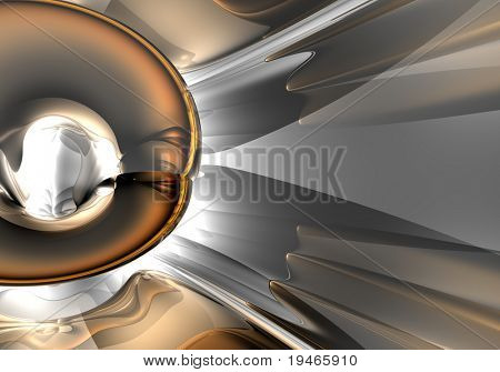 bronce tube in silver light