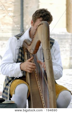 Man Playing A Harp 1