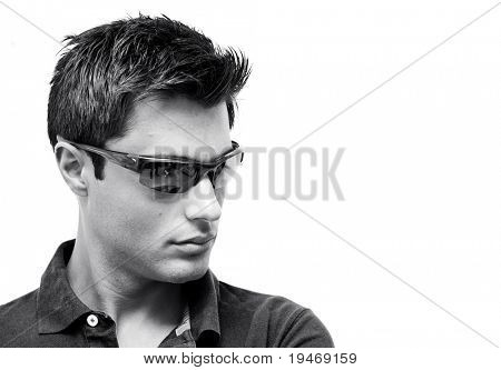 Young model wearing sunglasses