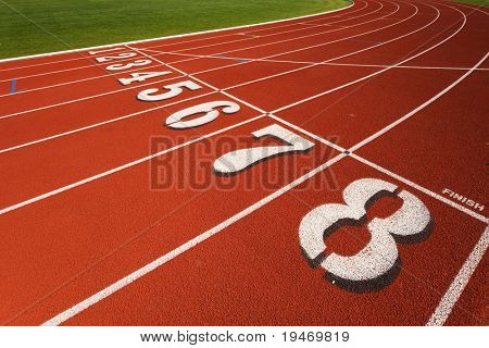The finish line at a race track