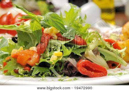 Fresh salad - a series of FOOD images.