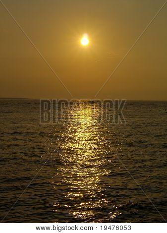 Sunset in seacoast