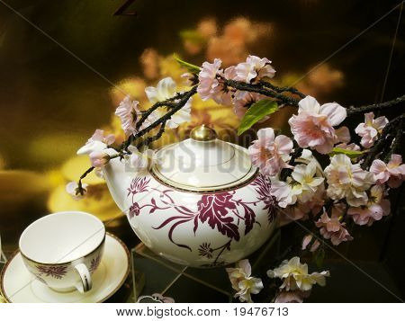 Flowers and china