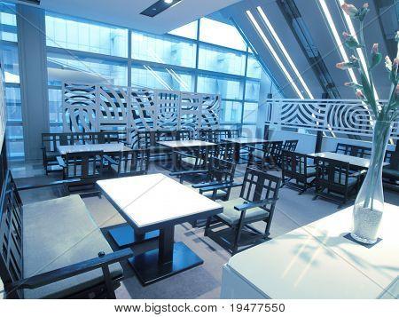 Restaurant in modern building