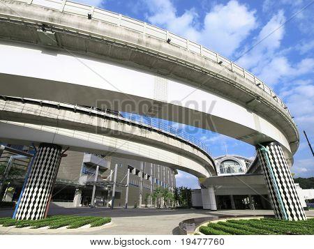 Bridge and MRT station