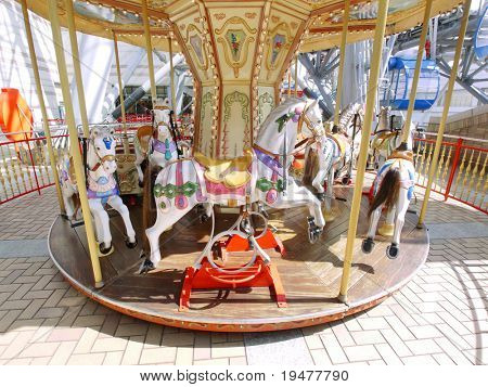 merry-go-round in pleasure park