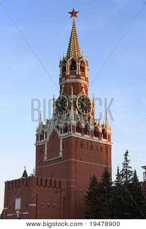 Moscow Kremlin at sunset, Moscow, Russia