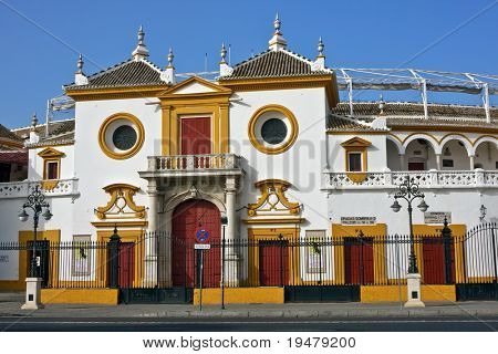 Entrance of the Plaza de Toros (arena), Sevilla, Spain