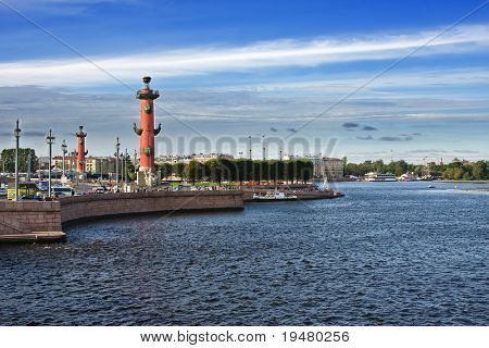Rostral columns, St.Petersburg, Russia