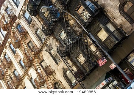 Tenement in Little Italy, New York, US