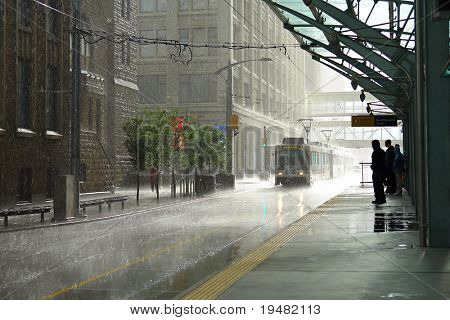 Rain in Calgary, Canada