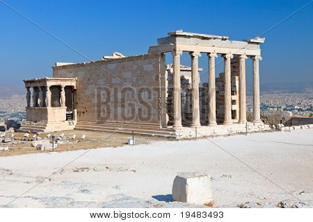 Erechtheum temple in Acropolis, Athens
