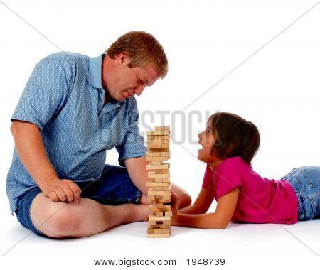 Plalying Spiele mit Papa