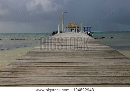 Summer in San Pedro Island in Belize