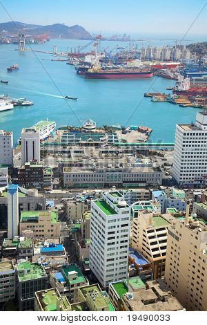 Harbor/ Cargo / Aerial View / Asia / South Korea