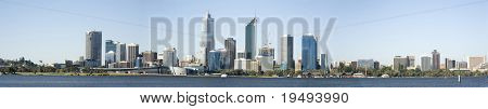 Western Australia - Perth Skyline from Swam River