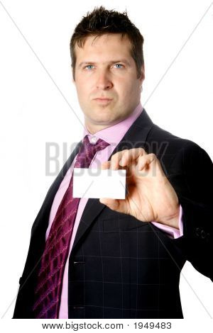 Smart Businessman With Businesscard