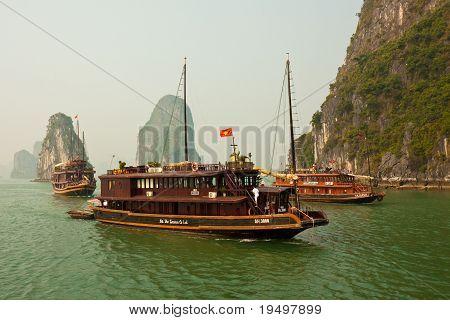 Boats In Beautiful Halong Bay