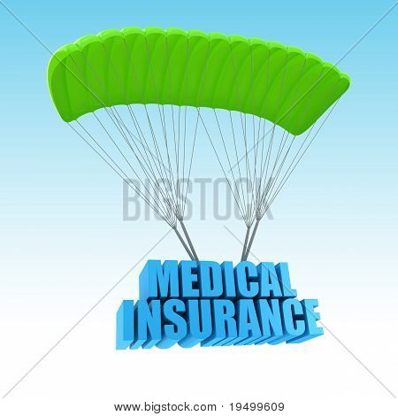 Insurance 3d concept illustration