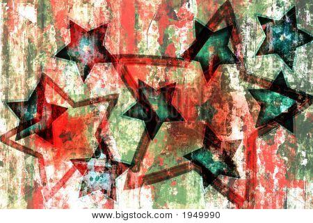 Christmas Stars Grunge