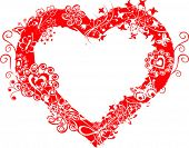 stock photo of valentines day card  - Grunge valentine frame - JPG