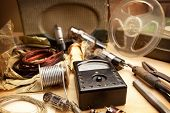 stock photo of potentiometer  - Vintage electronics - JPG