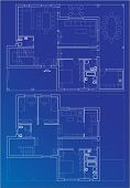 blueprint vector plan of home