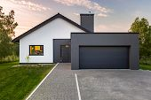 Modern House With Garage poster