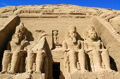 stock photo of ramses  - Ramses statue Abu Simbel ancient Egypt - JPG