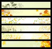 Floral  & autunm website banners. 468x60 & 730x90 sizes / light collection
