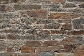 Old stone masonry. Background texture. poster
