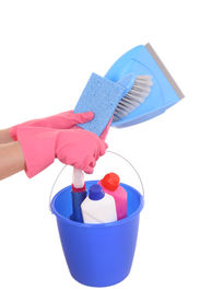 picture of house cleaning  - all you need to clean house  - JPG