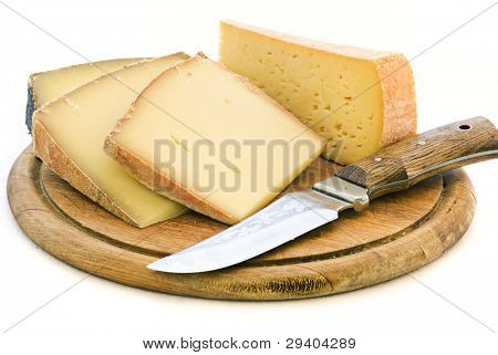 Mountain Cheese with Knife