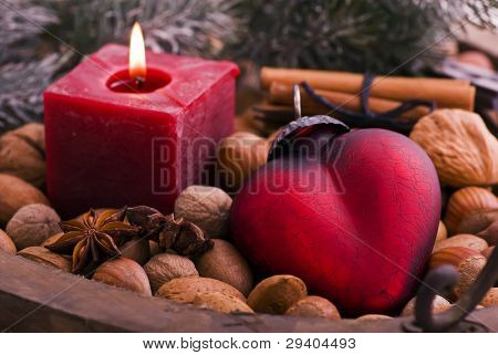 Candle Light with Heart