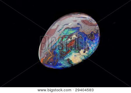 Opal on black Background