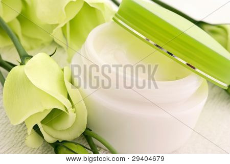 Cream with Flower