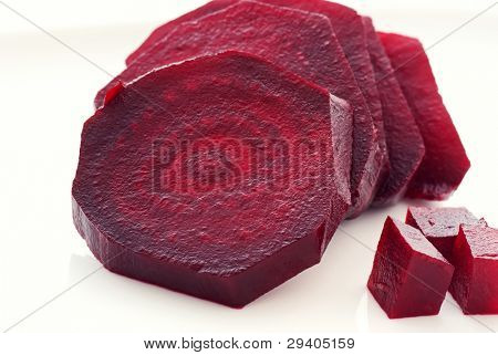 Row Beetroot Slices