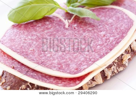 Salami on Farmhouse Bread