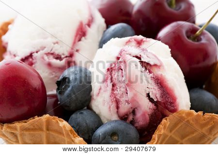 Icecream with Fruits