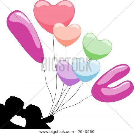 Love Balloon Kiss.Eps