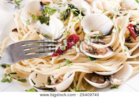 Spaghetti Vongole with Chilli