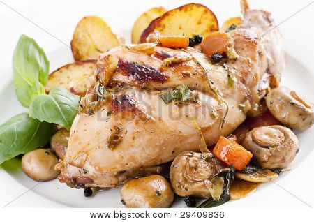 Rabbit with vegetable
