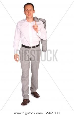 Young Businessman Walks