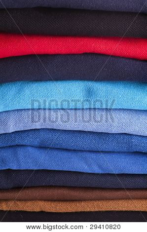 Cotton textiles different colour