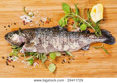 trout with fresh herbs