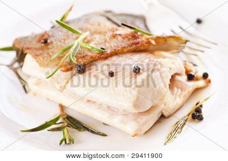 Trout fired with spices