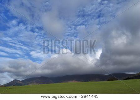Cumulus Clouds Over Skiddaw