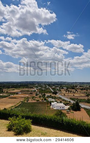 Mediterrean Country And Blue Sky