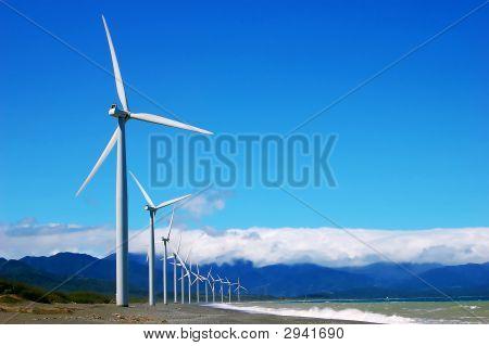 A Windfarm On A Single Row