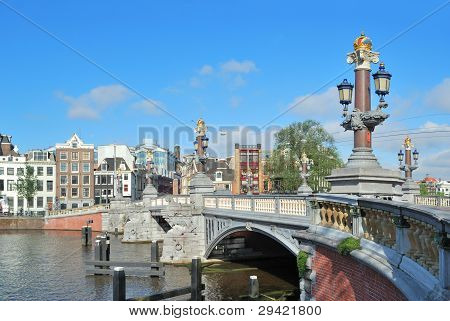 Blue Bridge  In Amsterdam